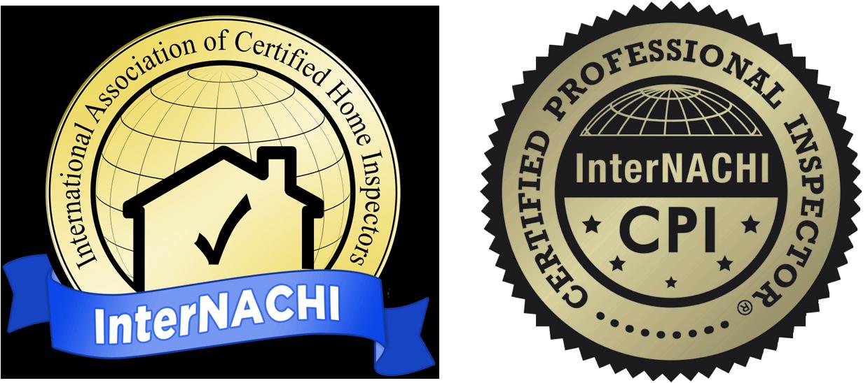International Association of Certified Home Inspectors InterNACHI logo and Certified Professional Inspector CPI logo