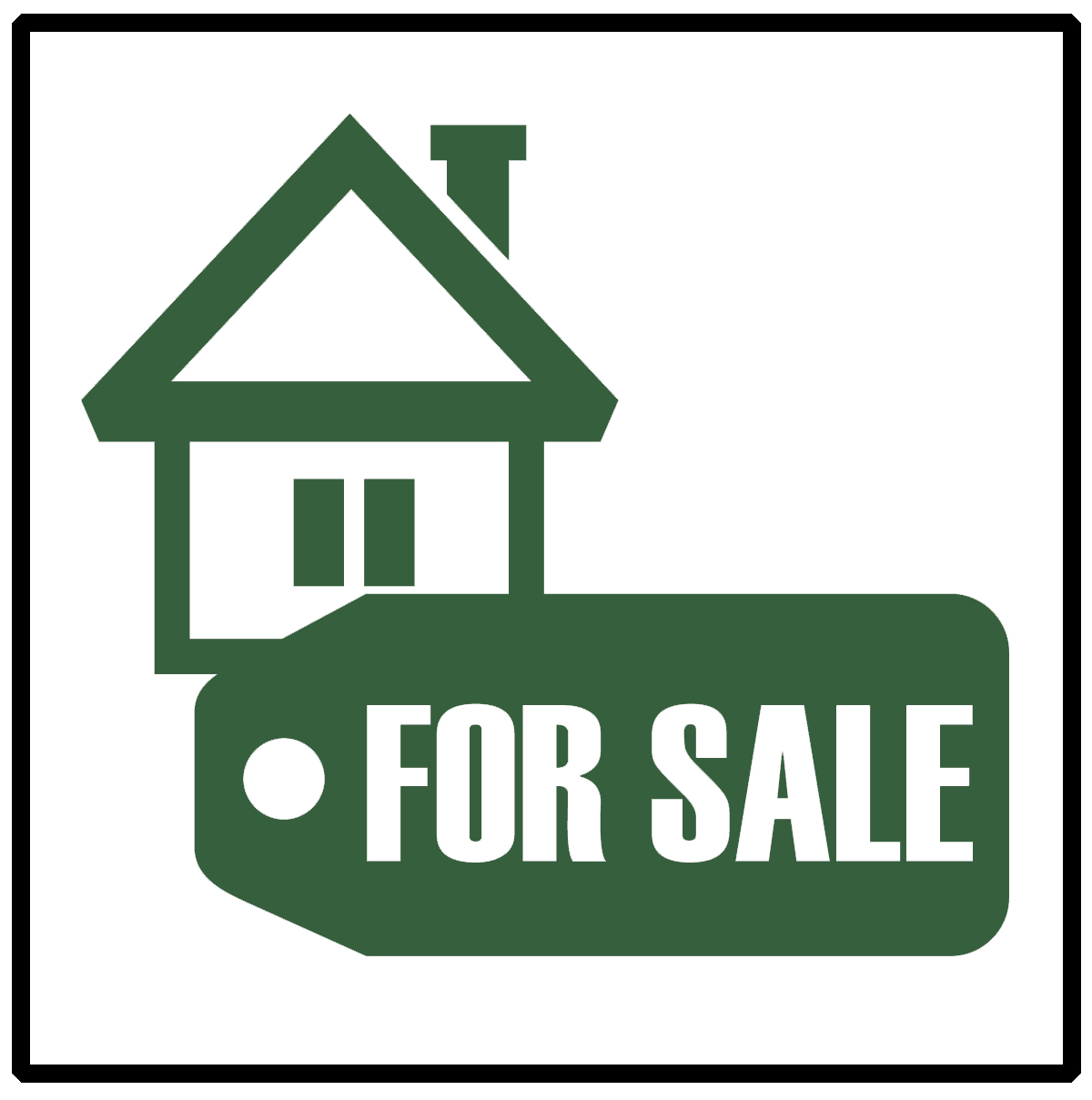 Icon showing house for sale sign for prelisting home inspection Services