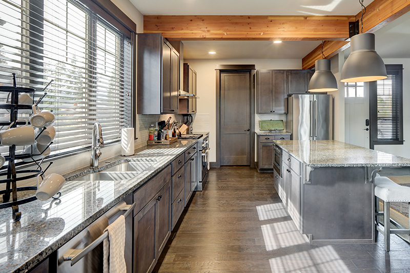 Beautiful modern kitchen seen during a home inspection